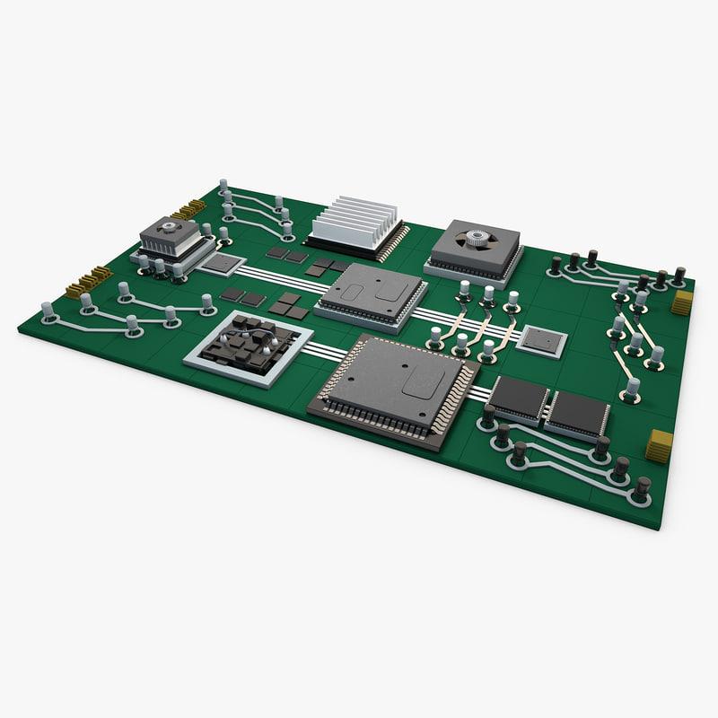 designs circuit board 3D