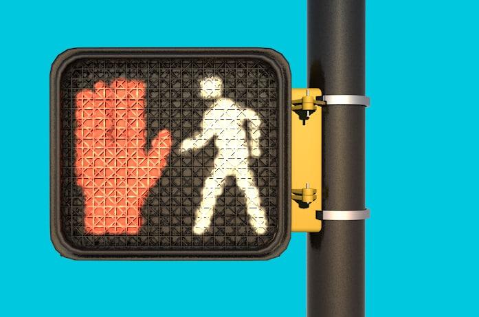 walk sign 3D model