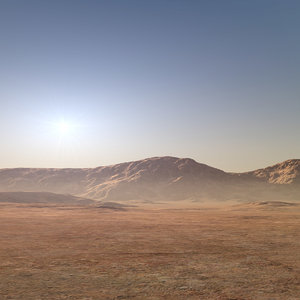 3D desert mountain range model