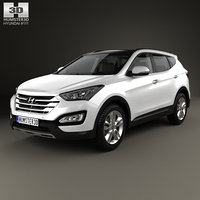Hyundai Santa Fe with HQ interior 2014