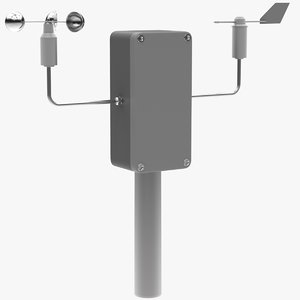 3D model weathercock anemometer