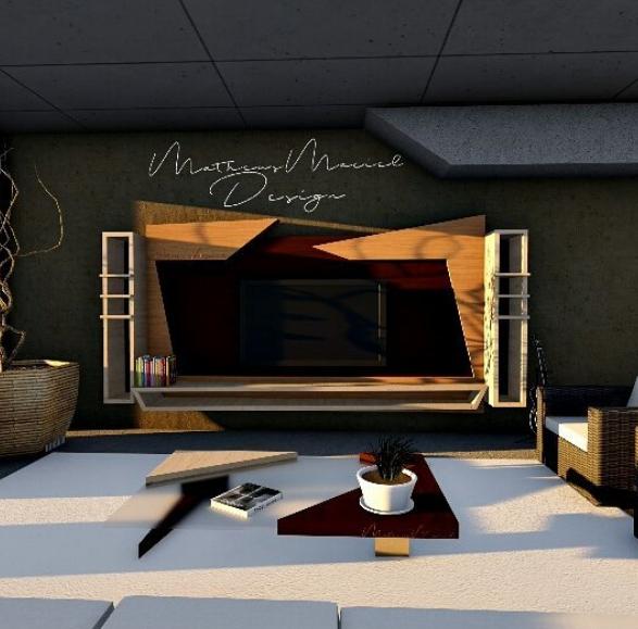 sketchup tv stand 3D model