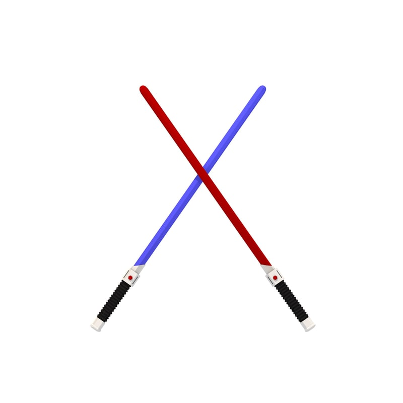 simple lightsabers 3D