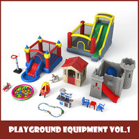 3D playground equipment set vol 1