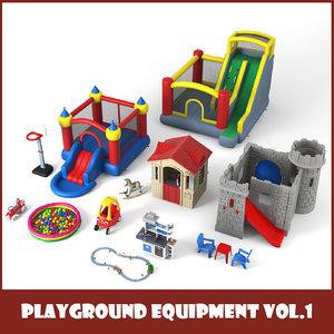 3D playground equipment set vol 1