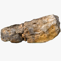 3D limestone boulder 4