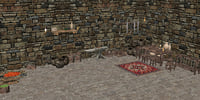 3D medieval house objects