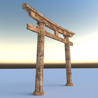 3D realistic torii gateway model