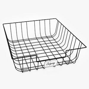 paperwork basket work 3D