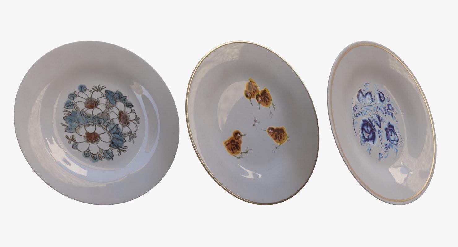 table plate 3D model