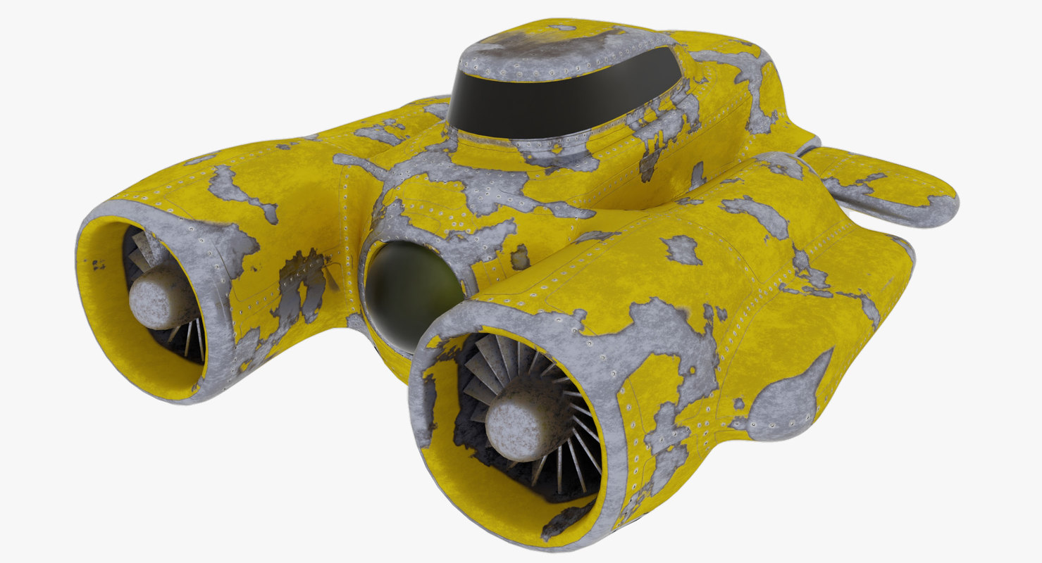 3D submarine painting flakes