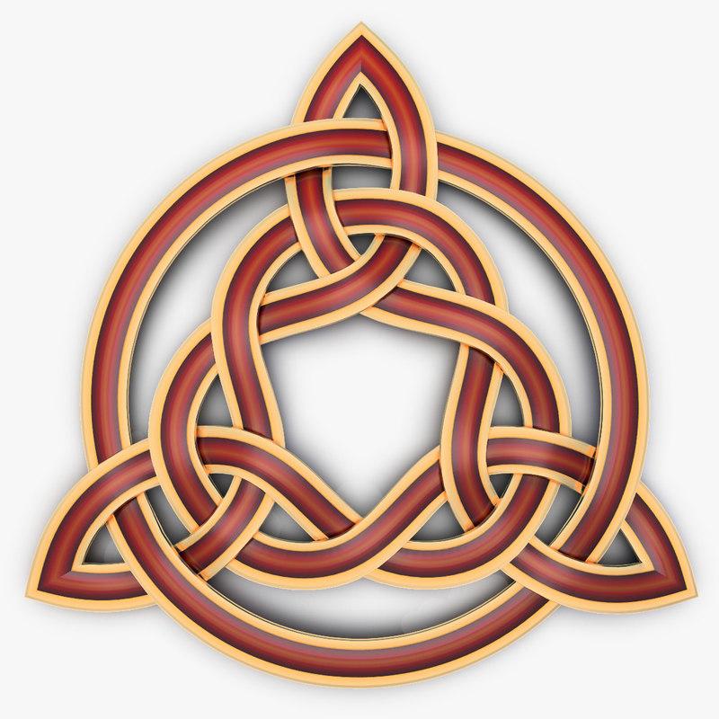 triquetra celtic knot 3d turbosquid 1239515