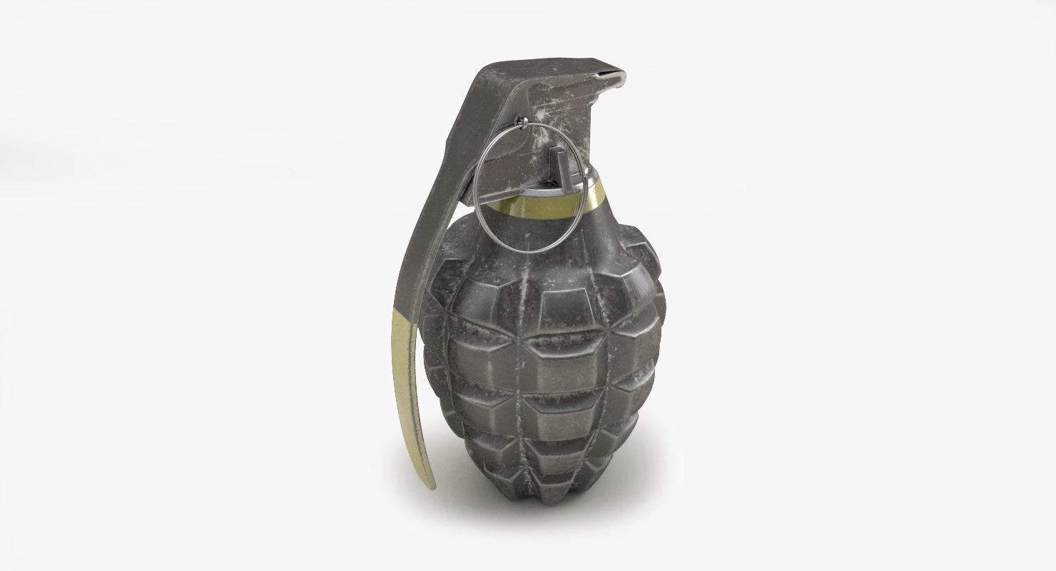 3D hand grenade mk2 2 model
