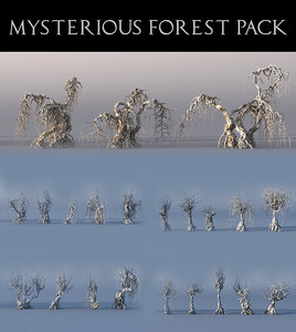 3D model mysterious forest pack 22