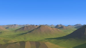cartoon 1 landscape 3D model