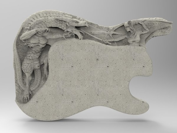 3D model carved electric dragon
