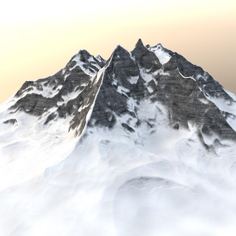 mountain - winter landscape 3D