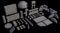 Ancient Ruin Kit (40+ Elements)