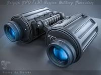 3D military binoculars model