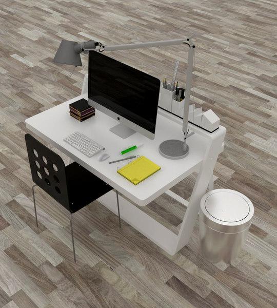 office desk 3D model