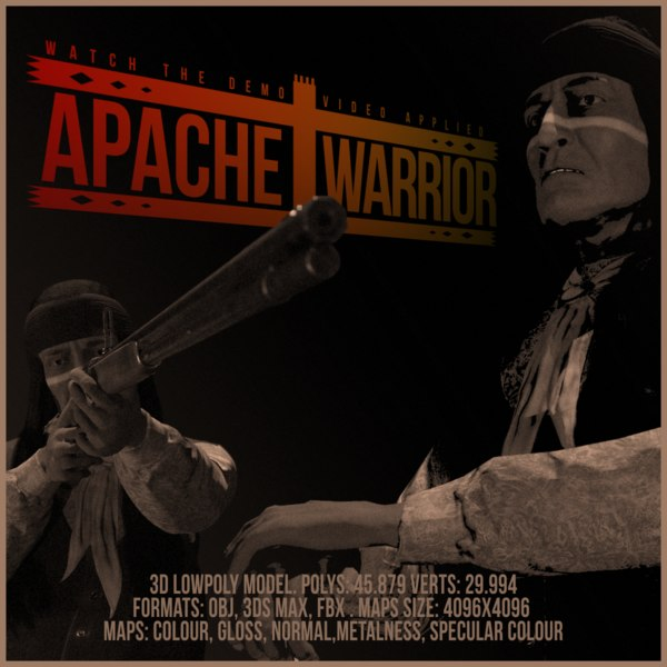 3D apache warrior