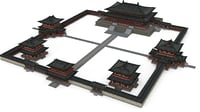 3D model tang dynasty