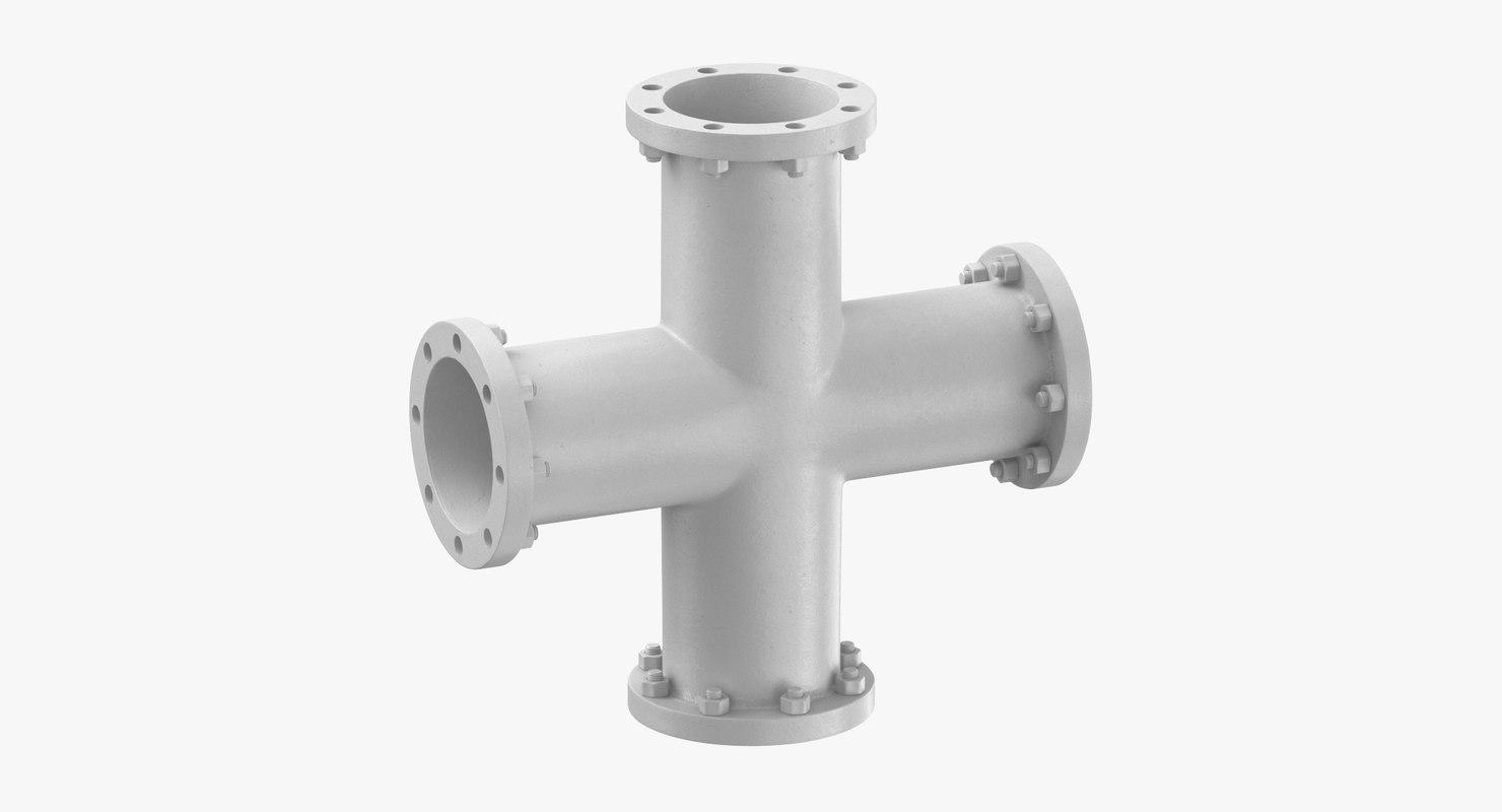 Industrial Pipe X-Shape