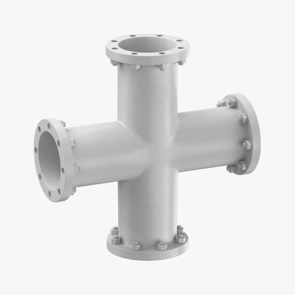 industrial pipe shape 3D model