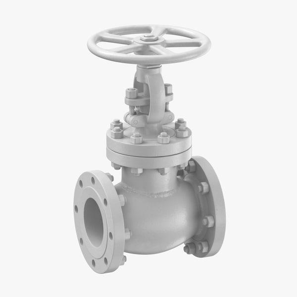 3D industrial pipe valve 01 model
