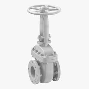 industrial pipe valve 02 3D model