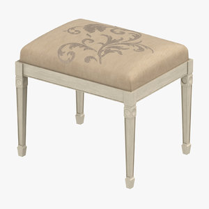 3D classical bench