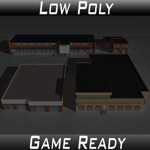 factory building set 3D model
