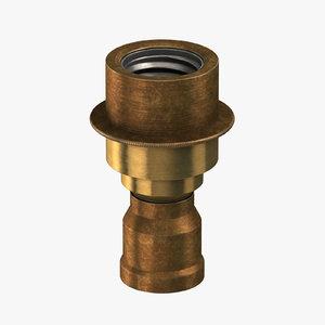 vintage brass pipe line 3D model