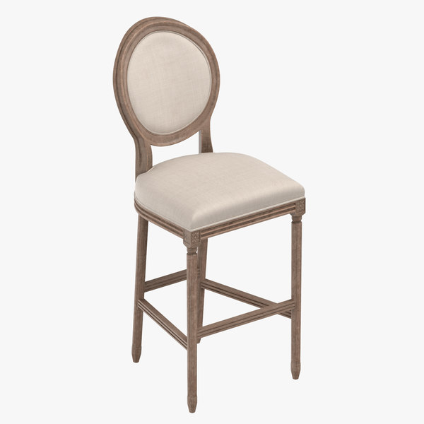 classical bar stool 3D