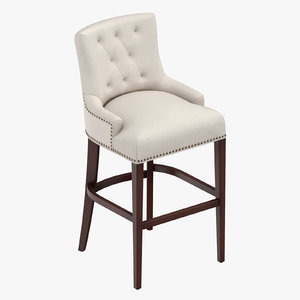 3D model traditional bar stool