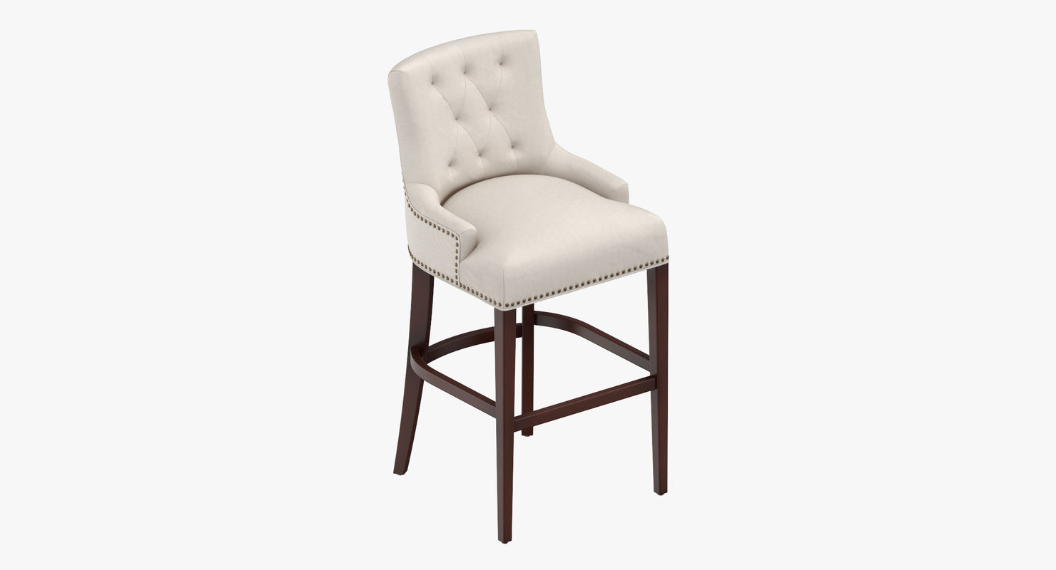 3D model traditional bar stool
