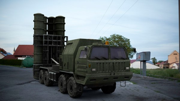 s-400 systems 3D model
