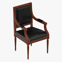 3D classical office chair