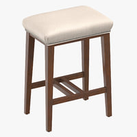 traditional stool 3D model