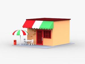 3D pizza restaurant