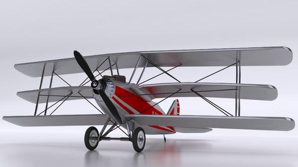 classic aroplane aircraft 3D model