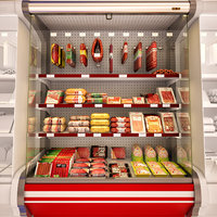Refrigerated showcase Meat