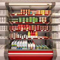 Refrigerated showcase Milk yogurt