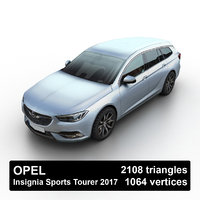 3D model 2017 opel insignia sports