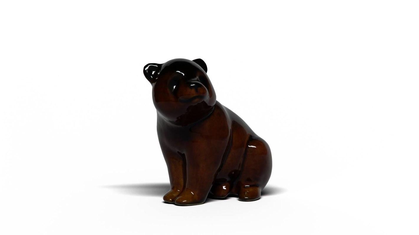 3D bear cub