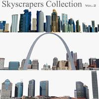 skyscrapers 2 3D model