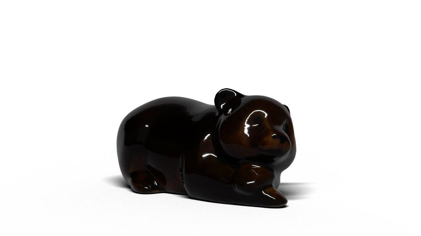 3D bear cub model