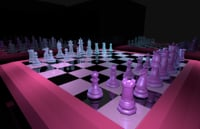 3D chess vaporwave model