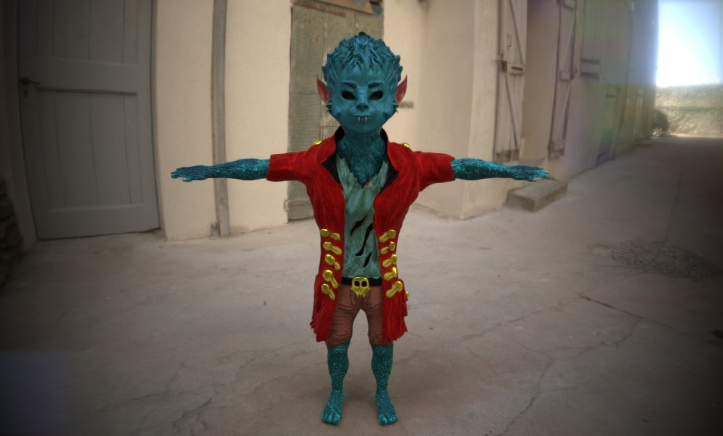 3D wolfman young model