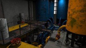 industrial building metallic 3D
